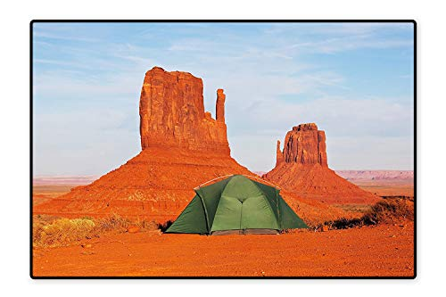 Stain Resistant Rug Monument Valley in Utah USA Natural Wonders of The World Heritage Landscape Dark Orange Blue for Living Room Dining Room Family  6'x9' (Plymouth 10' Valley)