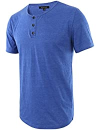 HETHCODE Men's Classic Comfort Soft Regular Fit Short Sleeve Henley T-Shirt Tee