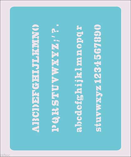 OutletBestSelling 再利用可能 頑丈 ステンシル アルファベット ウェスタン スクラップブック クラフト ペイント カラー ウォールデコレーション 15.0インチx11.5インチ B07HP9WLLW
