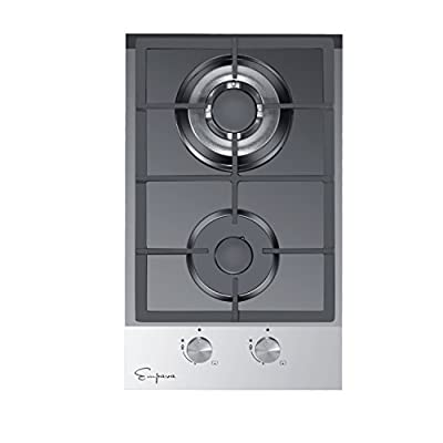 "Empava 12"" Tempered Glass 2 Italy Sabaf Burners Stove Top Gas Cooktop EMPV-12GC027"
