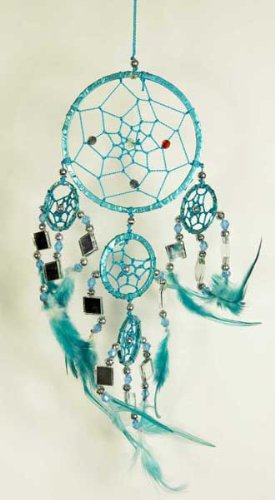 Dream Catcher Turquoise 9cm With Mirrors Cleo