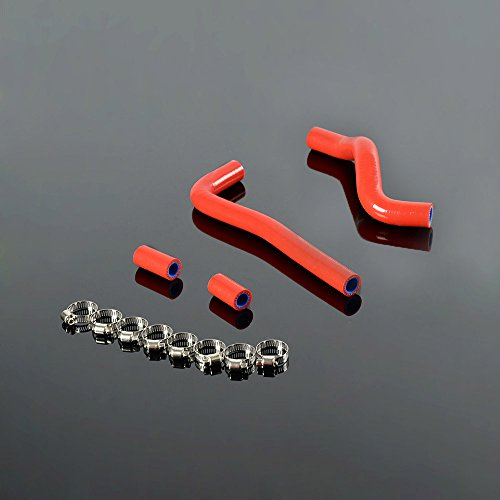 Silicone Coolant Radiator Hose Clamps For Honda CRF150 CRF 150 07-09 Red