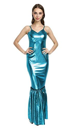 WOLF UNITARD Sleeveless Mermaid Dress Mermaid Costume