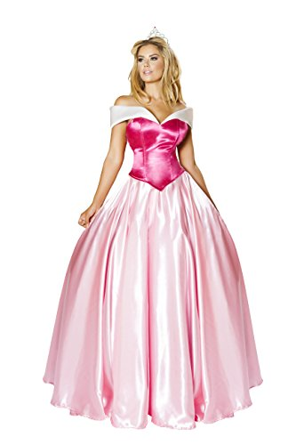3 Piece Elegant Princess Corset Top & Skirt w/ Crown Party Costume (Teen Sleeping Beauty Costumes)