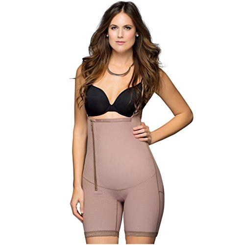 Fajas DPrada 11048 Womens Mid Thigh Body Shaper (Cocoa-Optic, Medium)