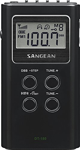 Sangean DT-180 AM / FM Pocket Radio -