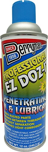 Berryman 1612 Professional EZ Doz-It Penetrating Oil and Lubricant, Not VOC Compliant in CA, 12 oz. 3-Way ()