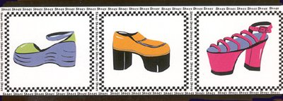 Shoe Sale Wall Border