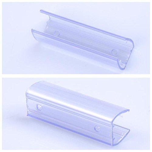 50 Pcs DELight LED Flex Neon Rope Lights Wall Hanger Mounting Channel 1/2'' Clear PVC Total 8' Long by Generic (Image #1)