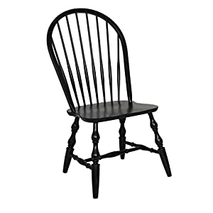 Sunset Trading DLU-C30-AB-2 Windsor Spindle back Dining Chair, Set of 2, Antique Black