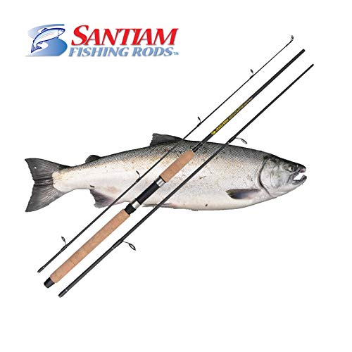 Santiam Fishing Rods 3 Piece 9' 10-20LB MF Graphite Spinning Rod