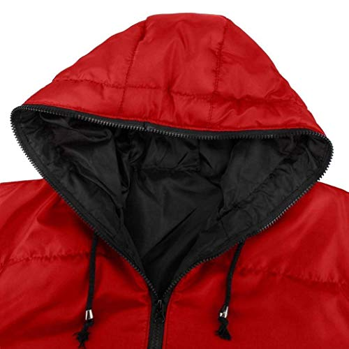 Color Coat Parka Jacket Fit Winter Down Slim Men Jacket Jacket Size Jacket Warm Rot Jacket XL Men Hooded Down Quilted AaPYqq