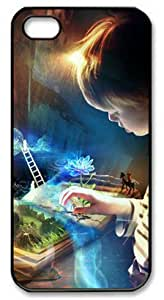 E-luckiycase PC Hard Shell Book Imagination with Black Edges Skin for Iphone 5 5s Case