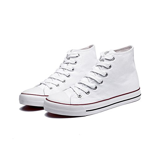 Adokoo Women's Canvas Shoes Casual Sneakers Low Cut Lace up Fashion Comfortable for Walking White1