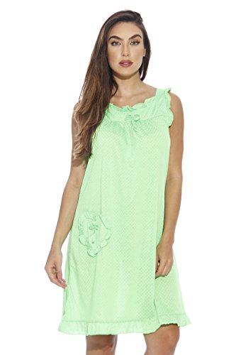 1562C-GRN-M Dreamcrest Nightgown / Women Sleepwear / Womans Pajamas,Bright Green,Medium