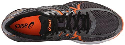Zapato de running GEL Flux 3 para hombre, negro carb¨®n / negro / naranja, 8 M US