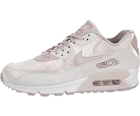Nike WMNS Air Max 90 LX 898512-600 Particle Rose/Grey Velvet Suede Women's Shoes - 90 Max Retro Air Nike