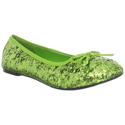 Glitter Ballet Lime Green Shoes (XJW-women flats, Women's Bow Accent Fantasy Fairy Glitter Ballet Flats (Color : Lime Green Gltr, Size : 9))
