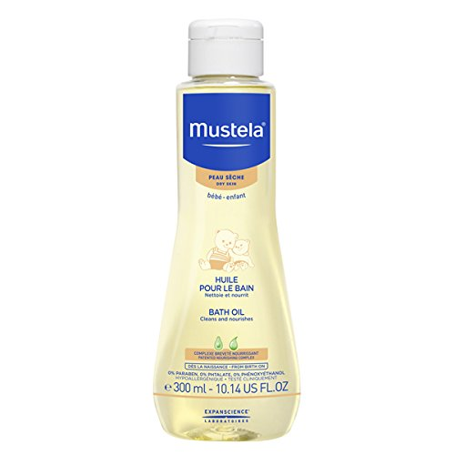 Mustela Bath Oil, Gentle Baby Bath Oil with Natural Avocado Oil, for Dry Skin