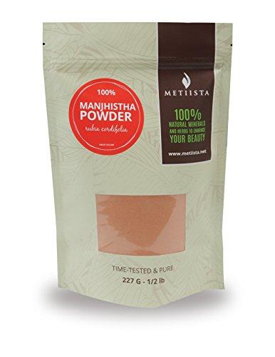 100% pure Manjistha (Rubia Cordifolia) 1/2 LB- ORGANICALLY GROWN -NEW! Resealable packaging