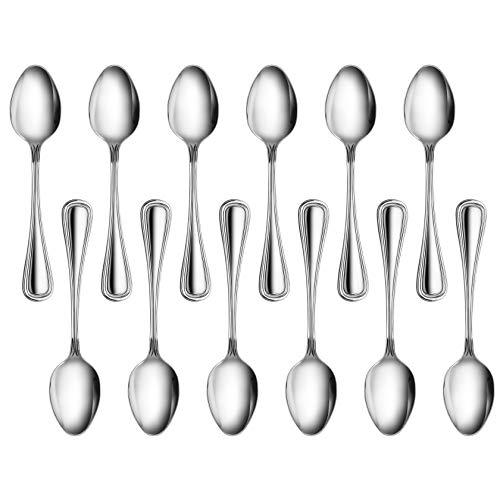 New Star 58123 Slimline Stainless Steel Dinner Spoon, 7.25-Inch, Set of 12