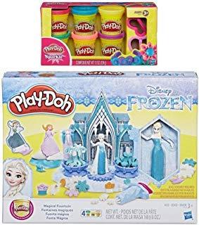 PD Play-Doh Disney Frozen Magical Fountain + Play-Doh Sparkle Compound Bundle]()