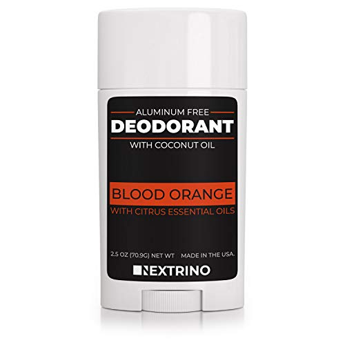 All Natural Aluminum Free Deodorant - Made in the USA with Coconut Oil & Essential Oils for Women and Men - Vegan, Non-GMO & Organic Ingredients (Blood Orange)