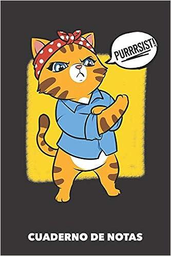 Cuaderno de Notas: Gato de Resistencia A5 en blanco - 120 ...