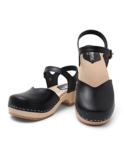 Sandgrens Swedish Wooden Low Heel Clog Sandals For Women | Sandgrens Suecos De Madera Sandalias De Tacón Bajo Estorbo Para Las Mujeres | Saragasso Black (vegetable Tanned Leather) Saragasso Negro (cuero Curtido Vegetal) Venta barata confiable Venta Factory Outlet oJfiJ88r3