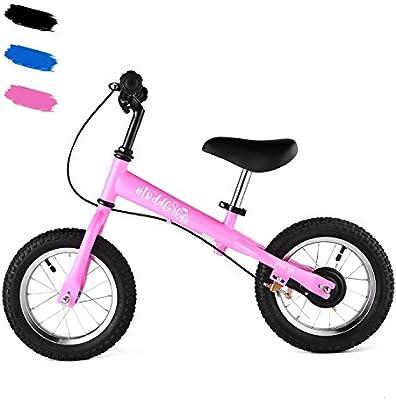 Qulista Bicicleta sin Pedales con Frenos Asiento Ajustable y ...