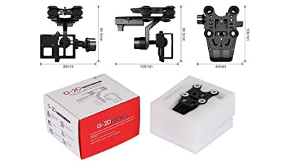 Walkera G-2D Gimbal System for Gopro Hero 3 Camera (CAMERA NOT INCLUDED) by Xheli