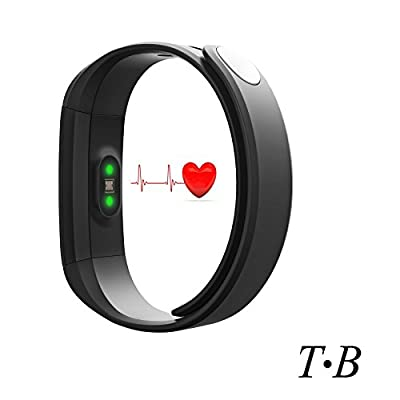 Fitness Tracker HR Monitor TopBest Sedentary Call Reminding Remote Self-Timer Sleep Monitor Calorie Counter Pedometer Healthy Wristband with Touch Screen Smart Bracelet For Android iOS Phone