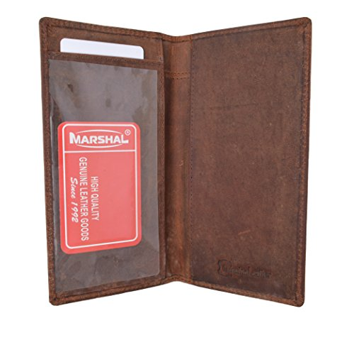 Brand New Hand Crafted Genuine Soft Leather Checkbook Cover simple-156 (Vintage) by Marshal