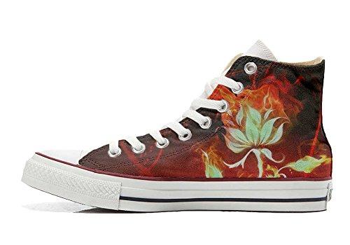 Converse All Star Chaussures Personnalisé et Imprimés (produit artisanal) fleur - size EU 32