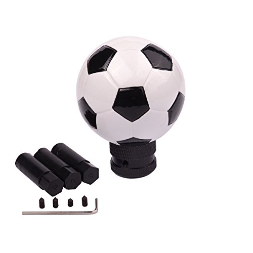 AZQKJ Cool Football Shape Gear Stick Shift Shifter Knob Lever Cover Universal Fit For Most Cars Without Lock Button (Gear Lever Lock)
