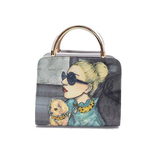 Authentic Discount Handbags (Basilion Printed Handbag Fashionable Messenger Zipper Bag Ladies Wild Shoulder Bags)