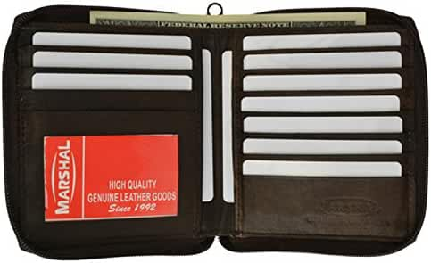 Mens Leather Zippered Wallet