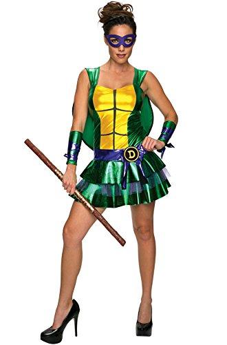 Secret Wishes Women's Teenage Mutant Ninja Turtles Donatello Costume Dress, Multi, (Fancy Dress Ninja Turtle)