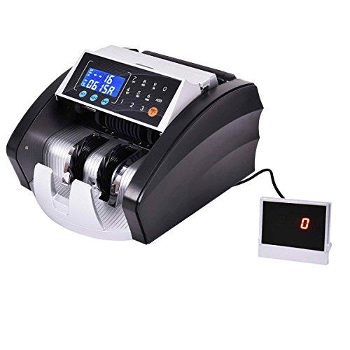 Safstar Automatic Color Led Cash Currency Money Counter Machine With Uv Mg Ir Counterfeit Bill Detection