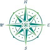Stencils for Walls - Compass Stencil - 5 x 5 inch (S) - Reusable Sea Ocean Nautical Ship Boat Seashore Stencils for Painting - Use on Walls, Floors, Fabrics, Glass, Wood, and More…