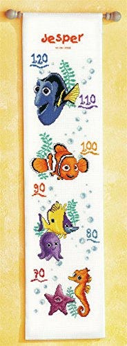 (Disney Finding Nemo Height Chart Counted Cross Stitch)