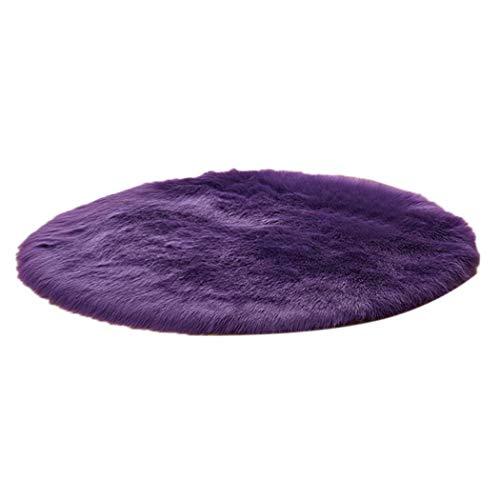 dozenla Modern Home Decoration Round Fluffy Warm Comfortable Mini Plush Carpet Area Rugs