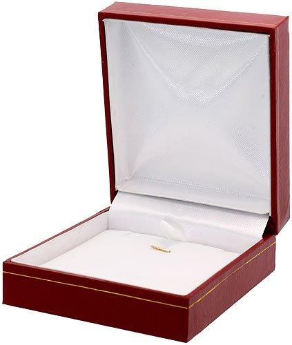 Boucles d'oreilles en or 14 Carats) & (19 mm Pendentif Collier 18 Pouces-Set w/0,20 Carat ovale & 3.64 Carat 7 x 5 mm pierres Saphir bleu