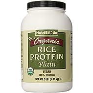 Nutribiotic Organic Rice Protein, Plain, 3 Pound
