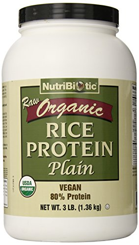 Nutribiotic Organic Rice Protein, Plain, 3 Pound