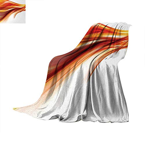 Abstract Digital Printing Blanket Modern Contemporary Abstract Smooth Lines Blurred Smock Art Flowing Rays Print Summer Quilt Comforter 62