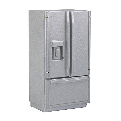 1/12 Dollhouse Miniature Fridge Refrigerator Silver Doll House Furniture Accessories