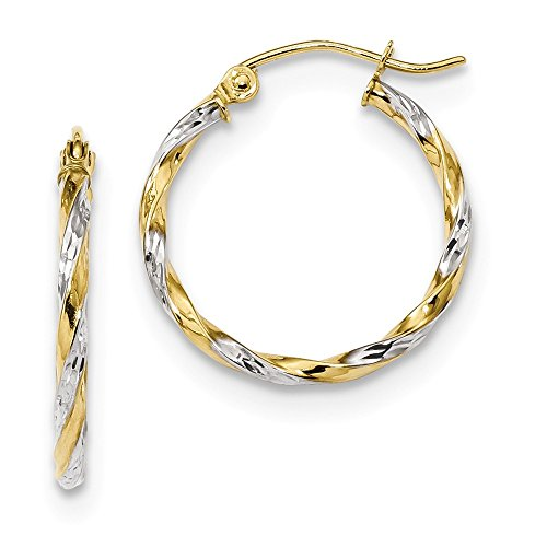 10k Yellow Gold Twisted Hoop Earrings Ear Hoops Set Fine Jewelry Gifts For Women For Her