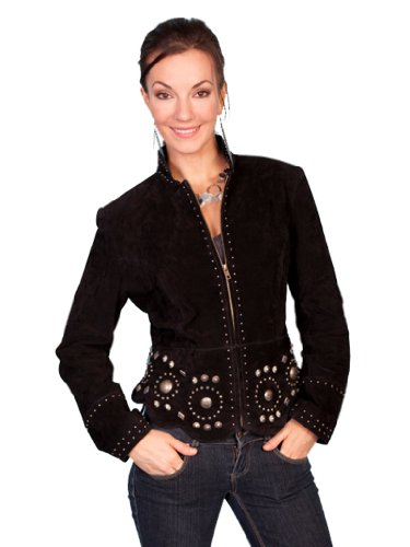 Scully Women's Loretta Studs and Concho Jacket, Black, 2XL