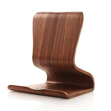 EtechMart Universal Walnut Wooden Multi-Angle Tablet Stand for iPad Android Tablets E-readers